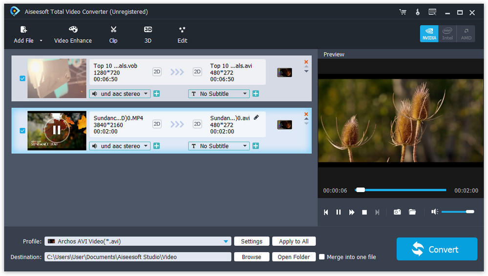 تحميل أفضل برامج تحويل الصيغ للفيديو والصوت Aiseesoft Total Video Converter